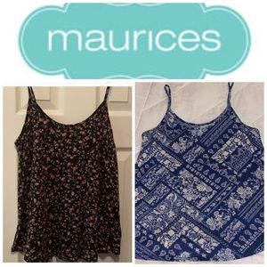 2 Maurices tank tops